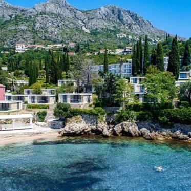 zicht op hotel Dubrovnik