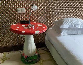 Slaapkamer in het hotel