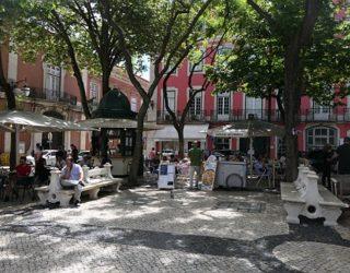 Gezellig pleintje in de stad