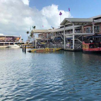 scheur in een speedboat door de baai van Miami