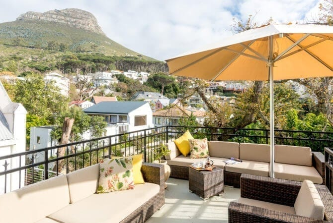 lodge in Kaapstad: terras