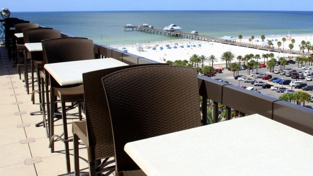 Clearwater/St. Petersburg hotel: uitzicht op strand
