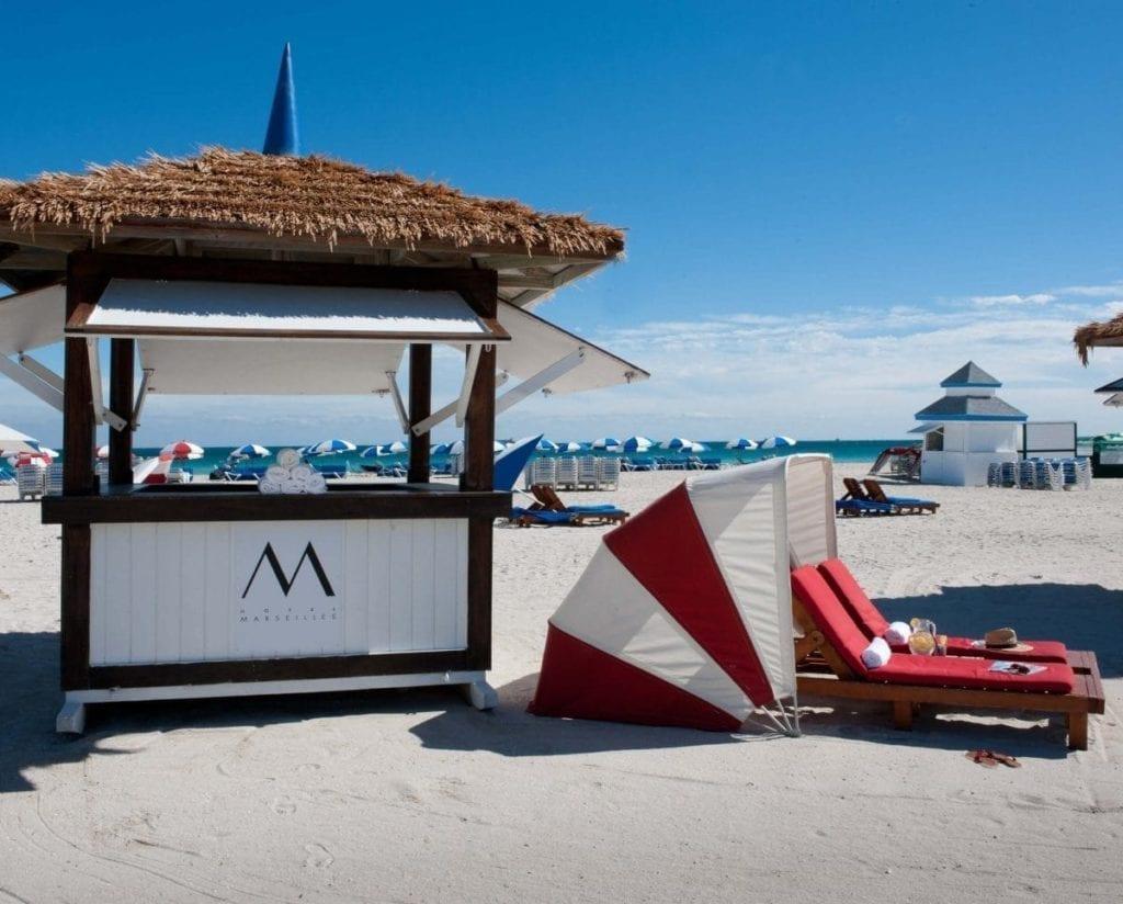 Stand van het hotel in Miami