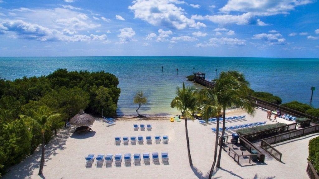 hotel op Key Largo: strand