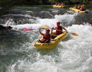 familie rafting in Kroatië