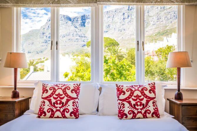 lodge in Kaapstad: zicht
