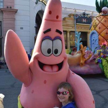 Orlando met kinderen: Patrick van Spongebob