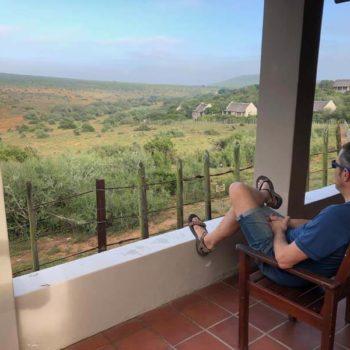lodge in Addo Elephants Park: uitzicht van het terras