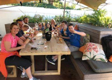 Fietsen, wijn en druivensapjes proeven in Stellenbosch