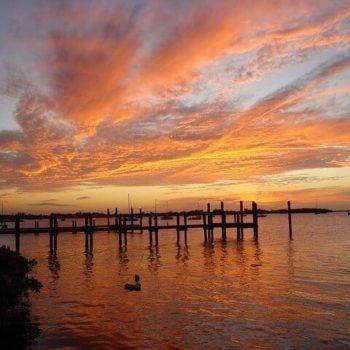 zonsondergang op de prachtige eilanden van de keys