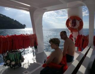 catamaran met kinderen
