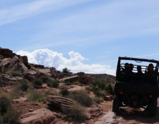 met de 4x4 door Arches National Park