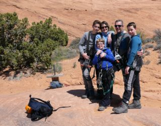 familiefoto in Arches National Park