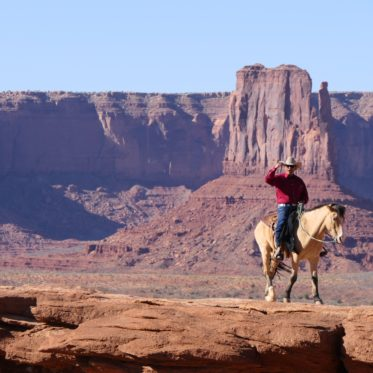 als een cowboy door de woestijn
