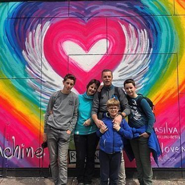 familiefoto voor graffiti