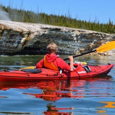 Verken Yellowstone Lake per kayak