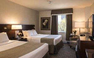fietsen door de mooie hoofdstad Ottawa: hotel verblijf kamer