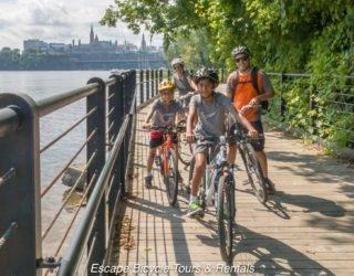 fietsen door de mooie hoofdstad Ottawa met kinderen
