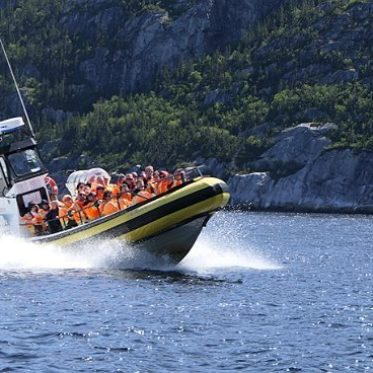 Speedboat in Canada