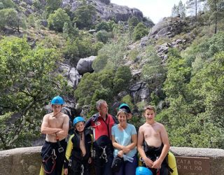 familiefoto canyoning