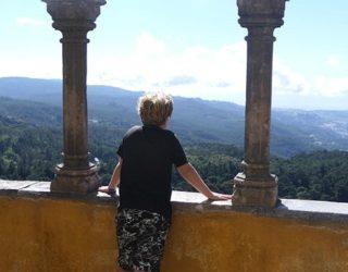 Uitzicht vanaf het sprookjespaleis