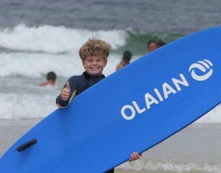 Dolle pret op de surfplank