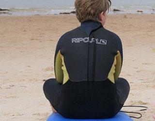 Oefenen op de surfplank