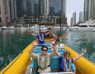 Ontdek Dubai vanop de zee met de speedboot